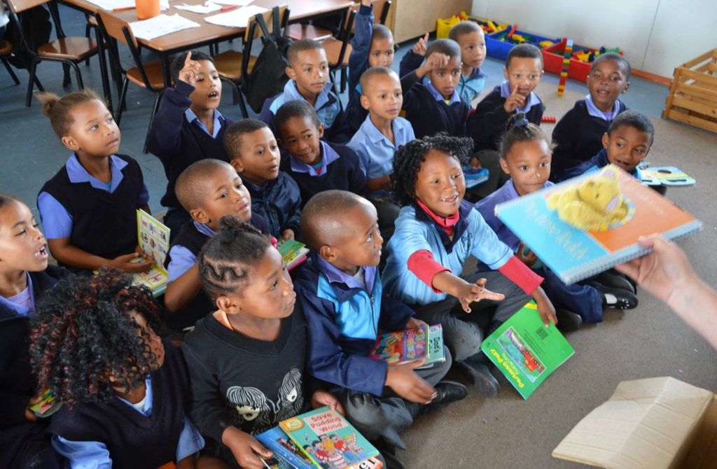 Grade R Learners At Pineview Primary Receive Reading Books.