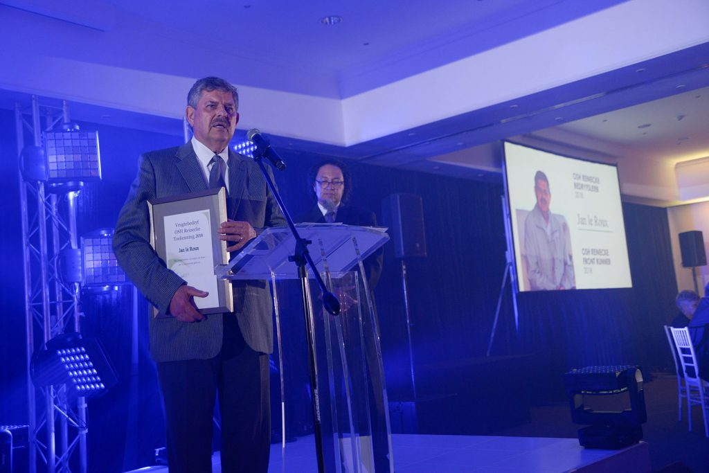 Gallery Deciduous Fruit Gala Evening Awards 2018 Jan Le Roux Podium
