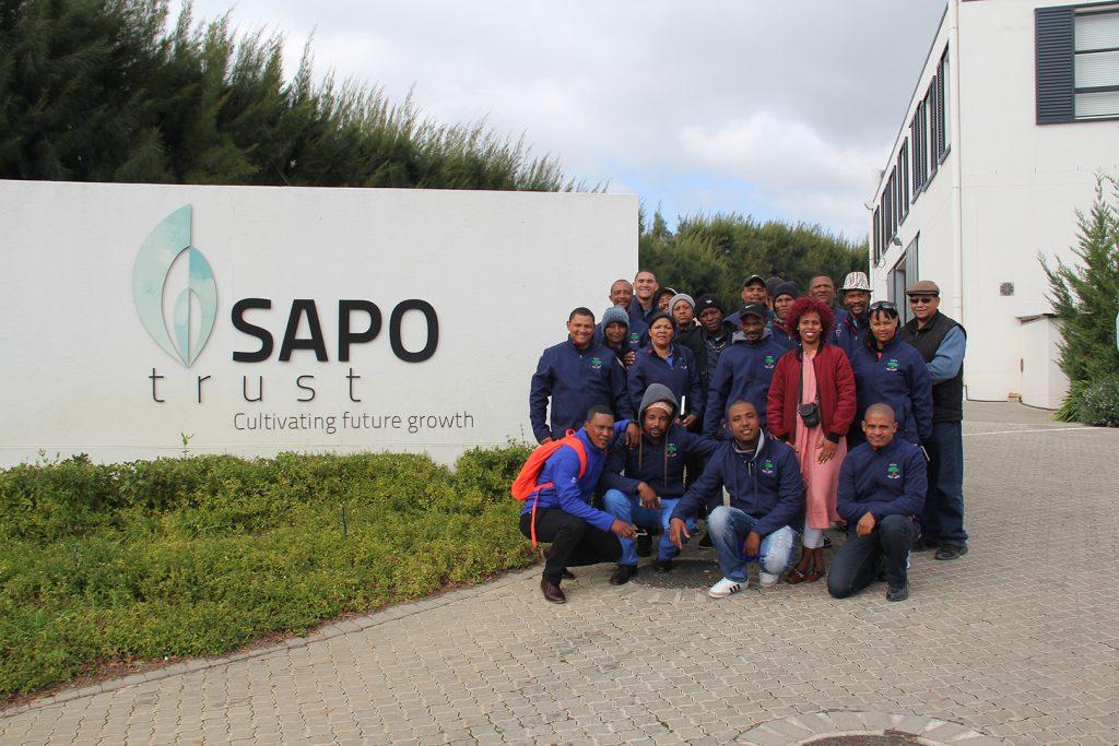 Gallery Hortgro Industry Tours Group Photo SAPO Trust Entrance