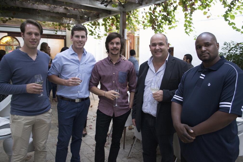 FLTR: Andrew van Lingen (MSc), Werner Truter (MSc), Philip Rebel (MSc), Nicholas Dicey (HORTGRO Chairperson), Dr Xolani Siboza (HORTGRO Science Researcher).